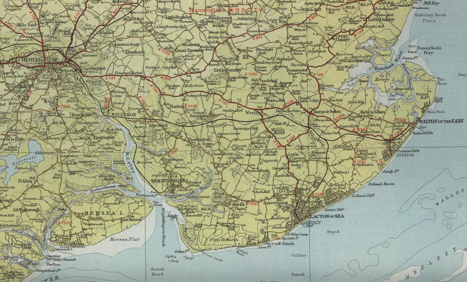Clacton Map